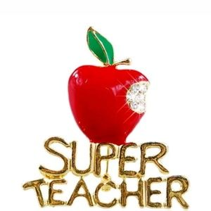 Jewelry - GORGEOUS TEACHER APPLE BROOCH NEW